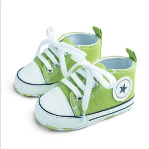 Baby Toddler Lime Lace-up Hightop Prewalker Shoes